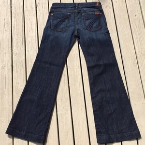 7 FAMK Dojo flare jeans size 28 EUC